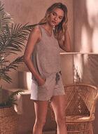 Ensemble pyjama haut et short, Gris
