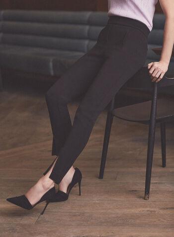 Pull-On Slim Leg Pants, Black,  pants, classic pants, trousers, slim leg, pull-on, spring summer 2021