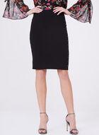 Studded Ponte Pencil Skirt, Black, hi-res