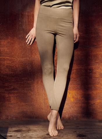 Legging écourté à enfiler, Vert,  pantalon, legging, à enfiler, pull-on, jambe droite, écourté, ajustée, jersey, extensible, printemps été 2021