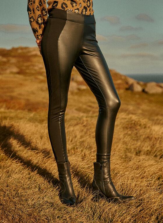 Legging Kayla en cuir végane, Noir