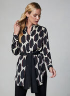 Geometric Print Tunic, Brown