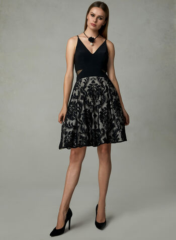 BA Nites - Fit & Flare Dress, Black, hi-res