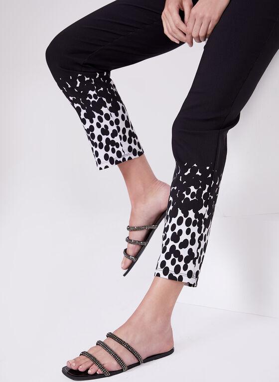 Pantalon longueur cheville à motif pois dégradé, Noir, hi-res