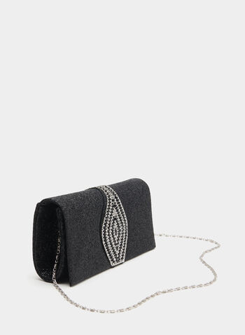 Crystal Design Evening Clutch, Black, hi-res