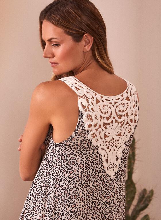 Robe de nuit à motif léopard, Noir