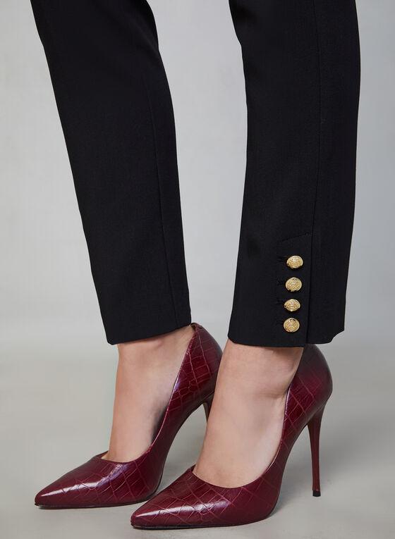 Pantalon Giselle à jambe étroite, Noir