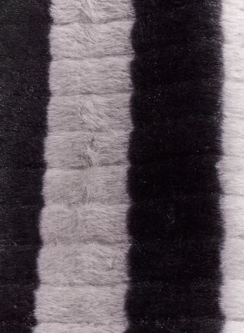 Chenille Faux Fur Tube Scarf, Grey, hi-res