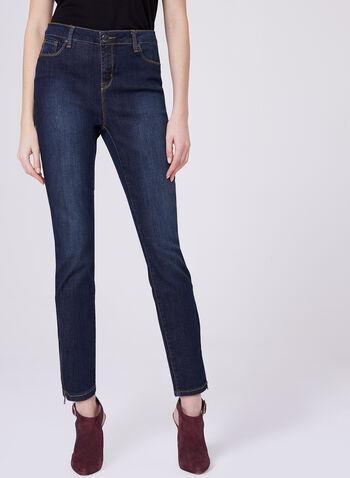 Slim Leg 5-Pocket Ankle Jeans, , hi-res