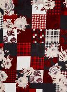 Foulard de soie à carreaux et à fleurs, Noir