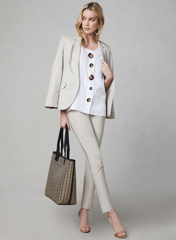 Vince Camuto - Sleeveless Linen Blouse, White, hi-res