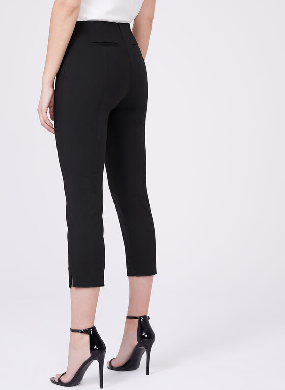 Stich Detail Capri Pants, Black, hi-res