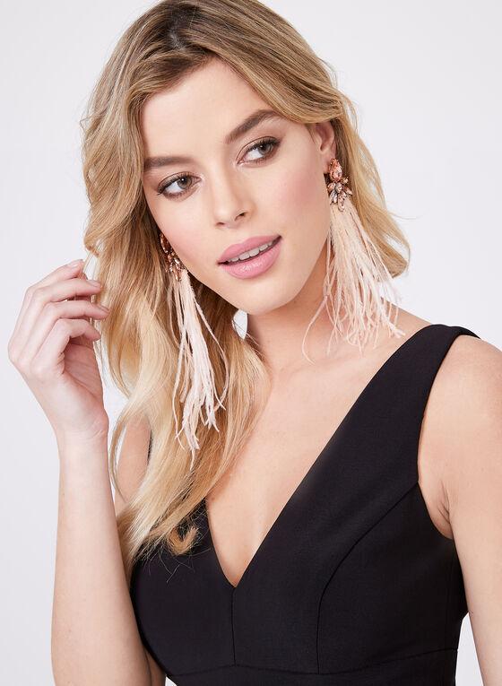 BA Nites - Sleeveless Pleated Chiffon Skirt Dress, Black, hi-res