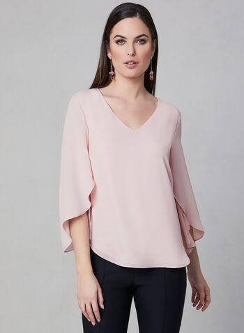 Frank Lyman - Cape Sleeve Blouse, Pink, hi-res