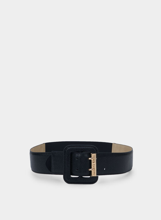 Vince Camuto - Square Buckle Belt, Black