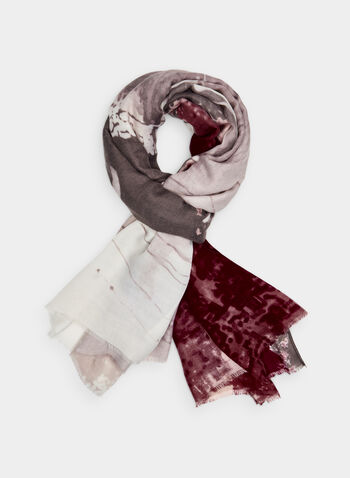 Car Print Scarf, Grey,  long scarf, oblong, polyester, silky, fall 2019, winter 2019