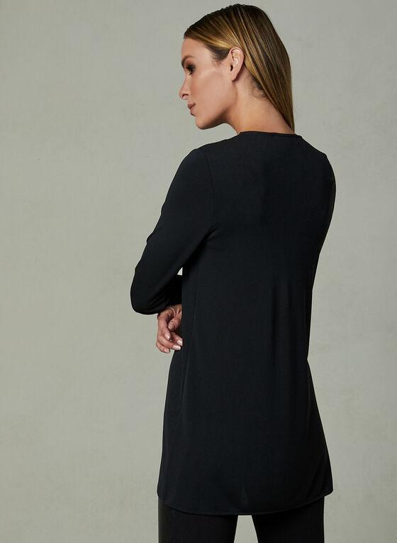 Asymmetric V-Neck Tunic, Black