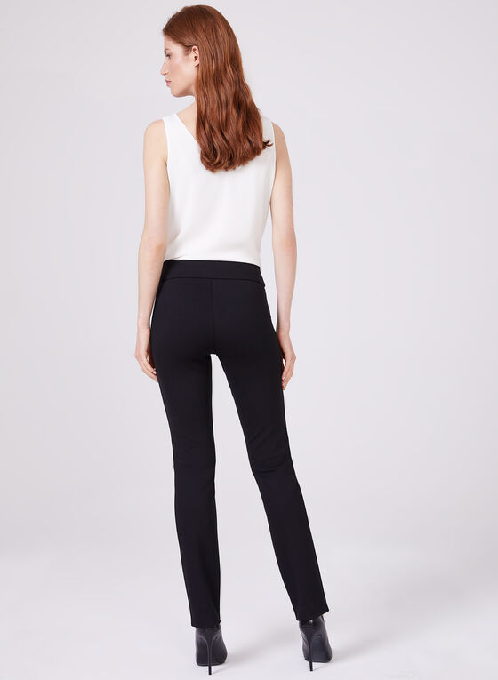 Madison Pull-On Slim Leg Pants, Black