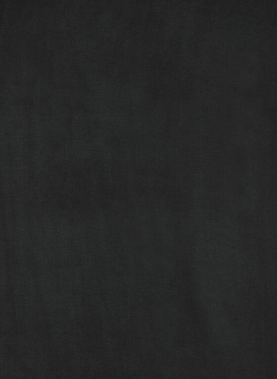 Foulard oblong satiné, Noir