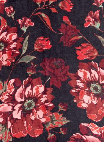 Floral Print Lightweight Scarf, , hi-res