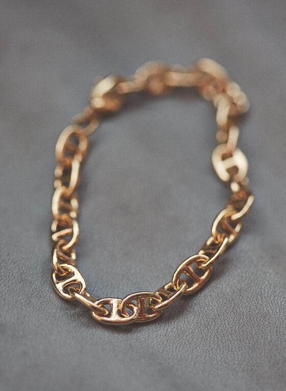 Oval Link Bracelet, Gold