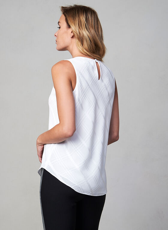 Sleeveless Jewel Neck Blouse, Off White