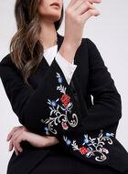 Tahari - Embroidered One-Button Blazer, Black, hi-res