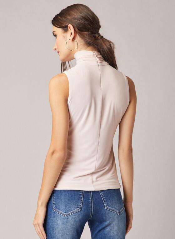 Sleeveless Turtleneck Top, Light Pink