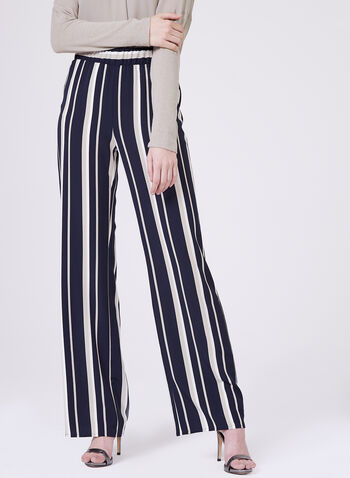Conrad C - Stripe Print Wide Leg pants, Blue, hi-res