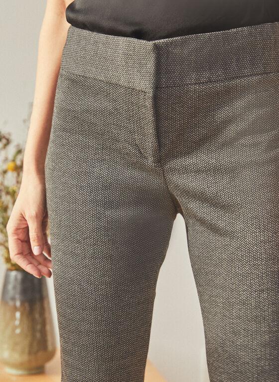 Vince Camuto - Pantalon à motif chevrons et jambe étroite, Noir
