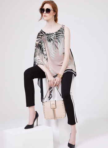 Asymmetric Poncho Blouse, Multi, hi-res
