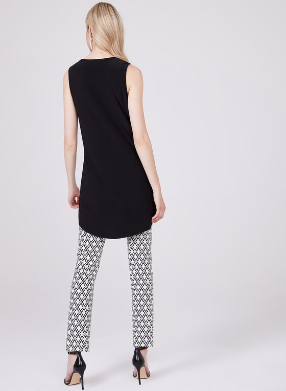 Sleeveless Keyhole Neck Tunic, Black, hi-res