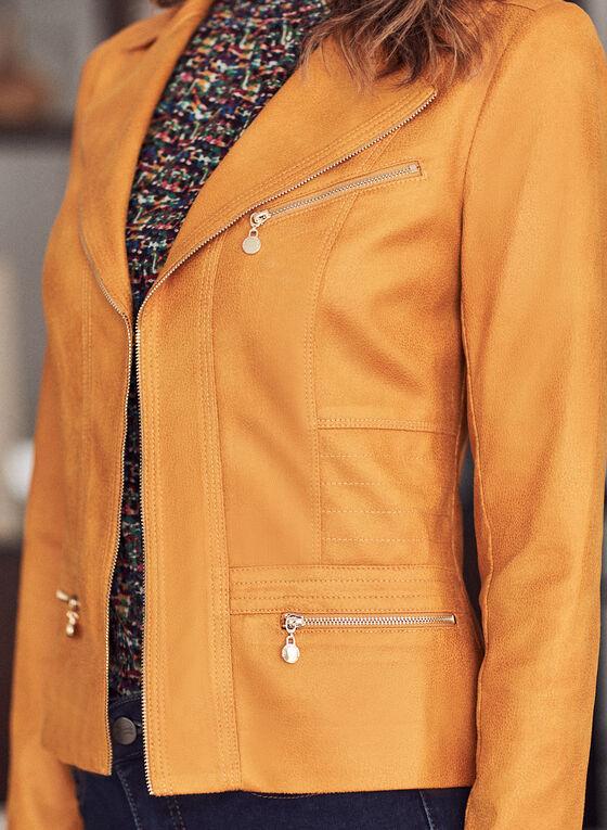 Vex - Veste aspect cuir à zips, Jaune