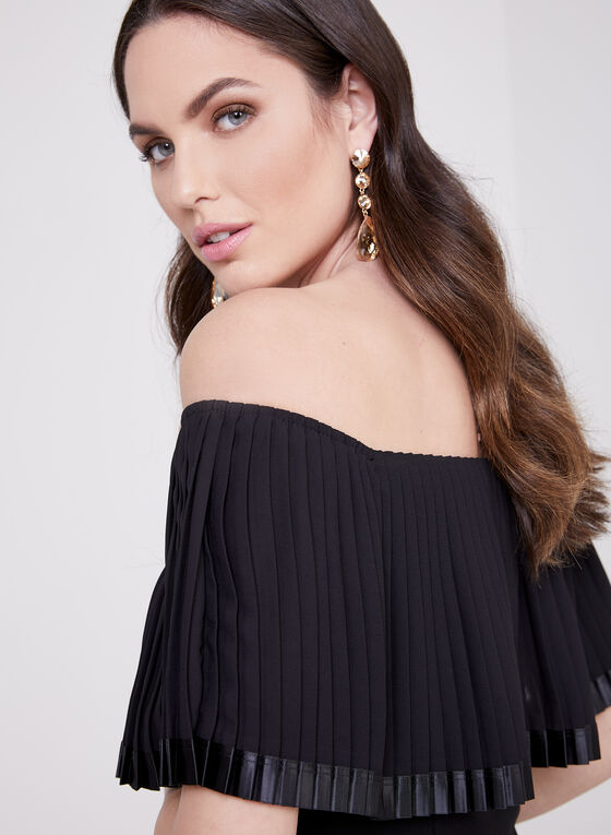 Frank Lyman - Off The Shoulder Popover Dress, Black, hi-res