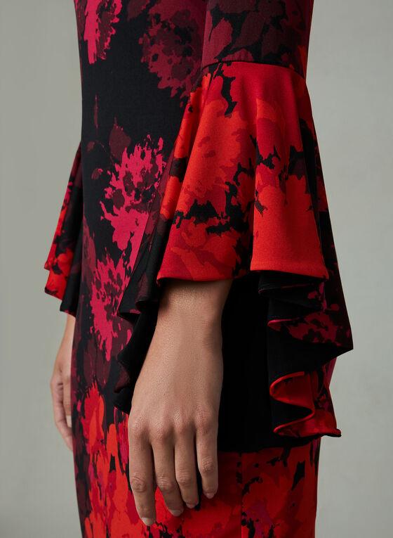 Frank Lyman - Robe à fleurs et manches ange, Multi, hi-res