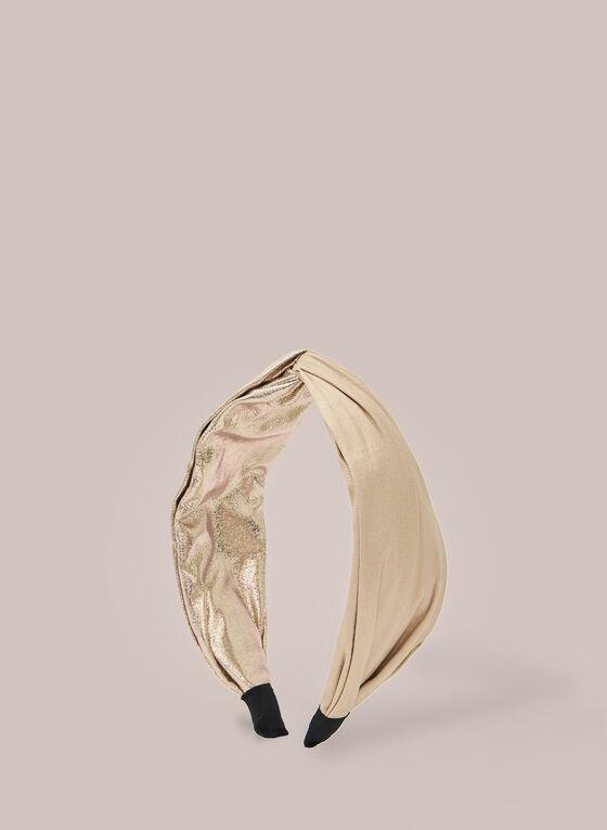 Metallic Fabric Headband, Gold