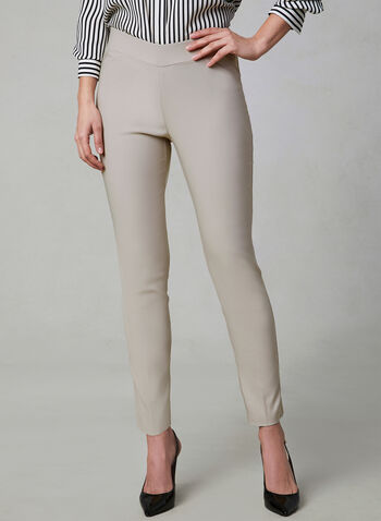 Slim Leg Ultra Tech Pants, Off White, hi-res