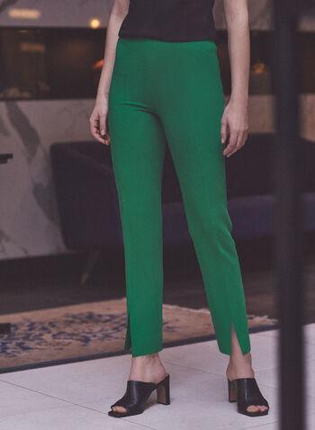 Slim Leg Amber Pants, Green,  spring summer 2020, slim leg, amber pants, ankle length, stretchy fabric
