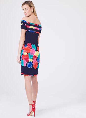 Frank Lyman - Floral Print Off The Shoulder Dress, Multi, hi-res
