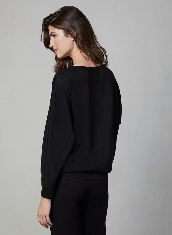Vince Camuto - Long Sleeve Top , Black