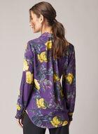 Floral Print Crepe Blouse, Purple