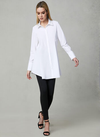 Joseph Ribkoff - Button Up Blouse, White, hi-res