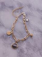 Bracelet à breloques à maillons ovales, Or