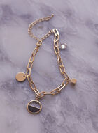 Oval Link Charm Bracelet, Gold