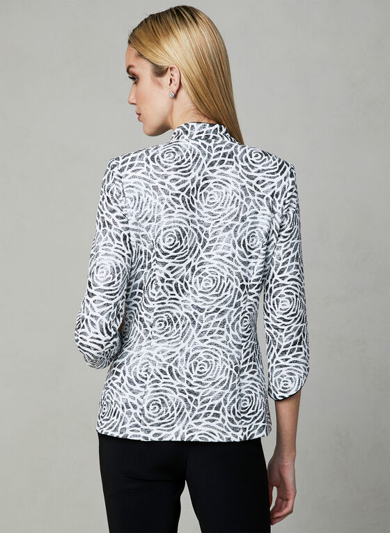 Joseph Ribkoff - Floral Print Twin Set, White, hi-res