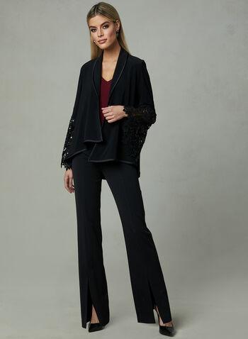 Joseph Ribkoff - Asymmetric Jacket, Black, hi-res
