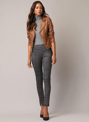 Vex - Veste en similicuir à glissières, Brun,  automne hiver 2020, veste, cuir, faux cuir, zip, glissière, Vex