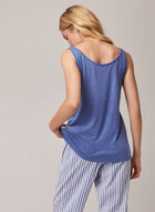 Text Detail Tank Top, Blue