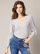 Textured Sequin Top, Silver