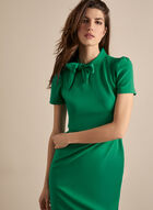Maggy London - Short Sleeve Bow Detail Dress, Green